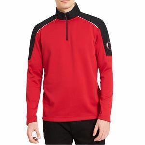 Calvin Klein Quarter Zip Sweatshirt Quilt Shoulder